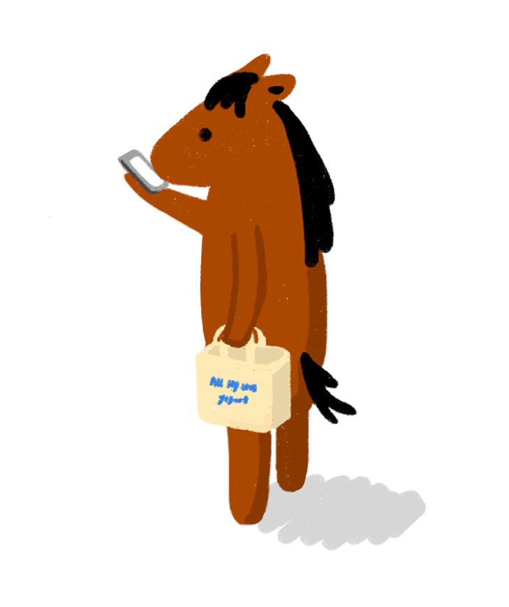 horse with phone faq